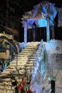 "Michael Bruce Florist, based in Pennsauken, displayed their ""Frozen"" inspired exhibit, ""Silver Thaw."" Photo Credit: Matt McDevitt."
