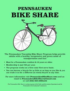 Pennsauken Bike Share Flyer_Green