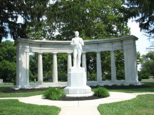 "The memorial to Peter J. McGuire, ""Father of Labor Day,"" at Arlington Cemetery in Pennsauken, NJ."