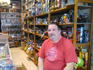 Scott Talis, owner of Play With This Toys and Collectibles and a longtime merchant at the old Pennsauken Mart, has brought his store back to the neighborhood.