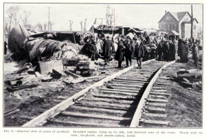"Ninety years ago this month, the locomotive known as the ""Nellie Bly"" wrecked in Pennsauken. Photo credit: Interstate Commerce Commission, 1926."