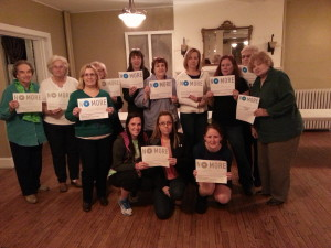 The Evening Membership Division of the Woman's Club of Merchantville shows it support for ending domestic violence and sexual assault by participating in NO MORE Week, a national grassroots initiative aimed at making domestic violence and sexual assault awareness and prevention a priority year-round.