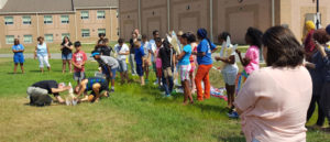 Students prepare to launch rockets of their own design as part of Pennsauken Intermediate School's third annual summer STEM Camp.