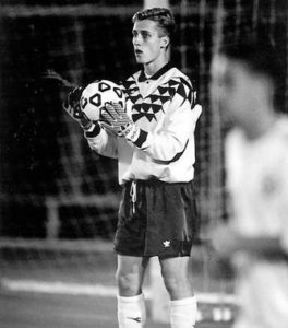 Pennsauken native Sean Vliet was enshrined in the Saint Joseph's University Men's Soccer Hall of Fame last month. Vliet was arguably the top goalkeeper in Hawk history, setting single-season and career records for saves during his four seasons. Photo credit: SJU Athletics.